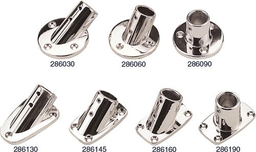 "Sea Dog 286030-1 Round Base Rail Fitting Chrome 7//8/"" 30°"