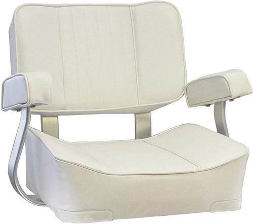 SPRINGFIELD MARINE CO  - DELUXE CAPTAIN'S CHAIR-WHIT